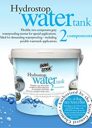 "Quad fold brochure ""Hydrostop WATER TANK 2 components"""