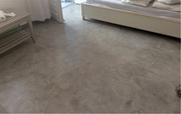 Pressed cement screed, flexible and durable: DUROSTICK microcemento DS-252 FLEX