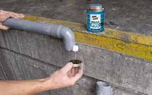 Κόλλες για σωλήνες PVC